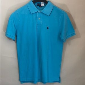POLO men's short sleeve baby blue Polo shirt Sz S